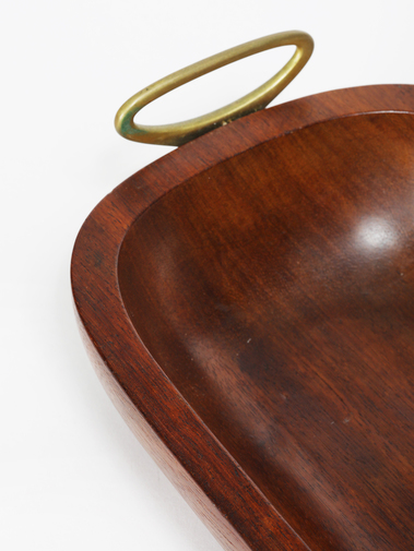 Carl Auböck Wooden Tray with Brass Handles, image 5
