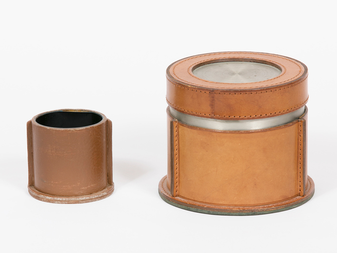 Leather Humidor Set, image 1