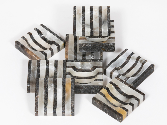 Striped Alabaster Trays, image 1