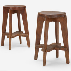 Tile wood top stools